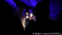 14.10.2017., Zagreb - Premijera One man showa Marka Dejanovica Prosti faktori u Studiju smijeha. Photo: Zeljko Lukunic/PIXSELL